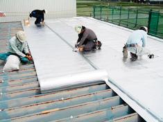 愛知県:倉庫屋根遮熱改修工事