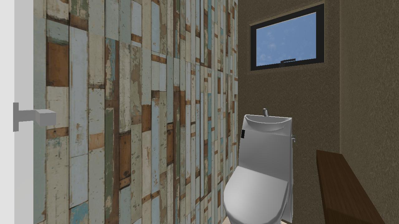 トイレの壁にこだわってみる 倉敷市船穂t様邸 株式会社サン